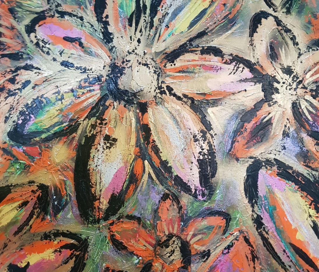 Abstract Floral Fusion Original Painting