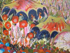 Festive Vibes 114 x 134cm Acrylic on canvas, gold leaf liquid.jpg
