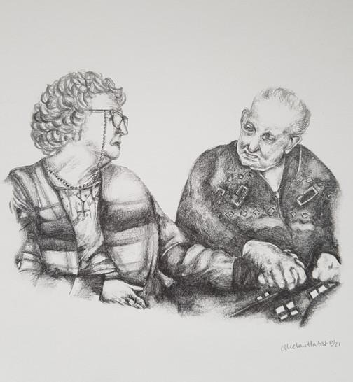 A beloved couple - portrait commission