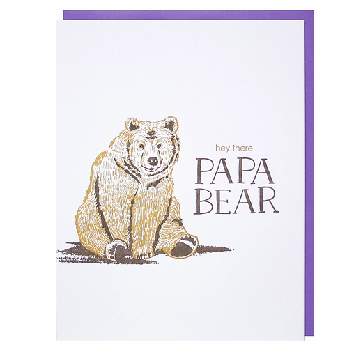 Hey There Papa Bear Greeting Card