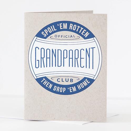 Grandparent Club Greeting Card
