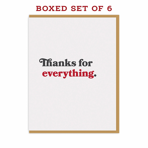 Thanks for Everything Box Set