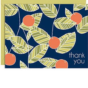 Thank You Oranges Cards & Envelopes