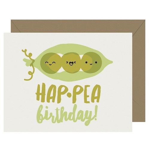 Hap-Pea Birthday Greeting Card