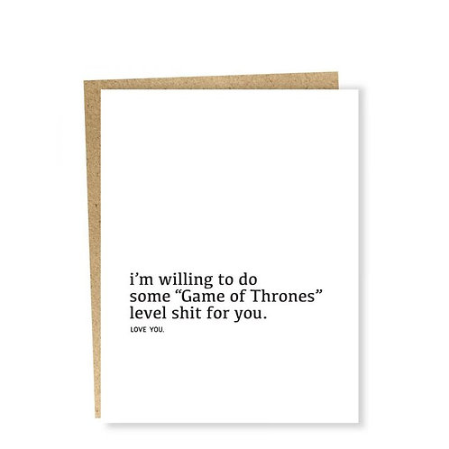 Game of Thrones Level Greeting Card
