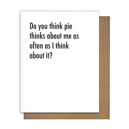 Pie Thoughts Greeting Card