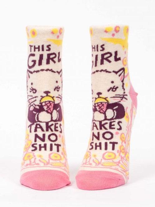 Women's Girl Takes No Shit Ankle Socks
