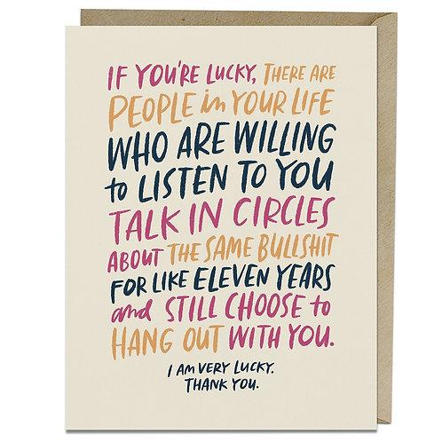 Friendship Talk in Circles Greeting Card