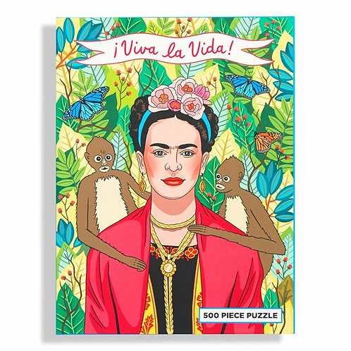 Viva La Vida Frida Kahlo 500 Piece Puzzle