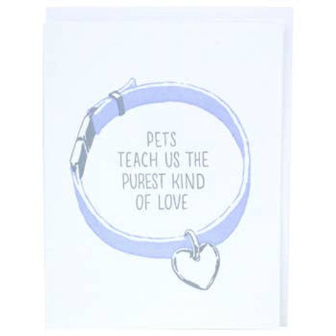 Pet Collar Greeting Card