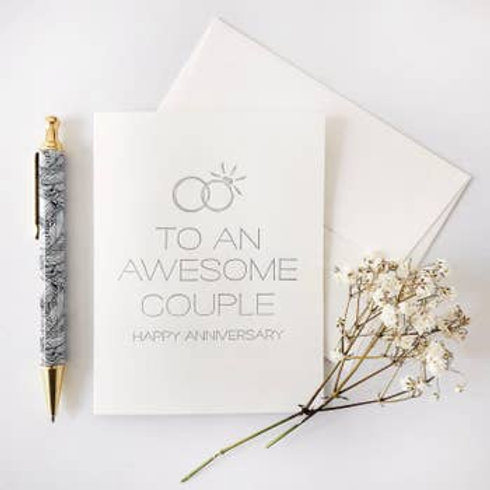 To An Awesome Couple Greeting Card