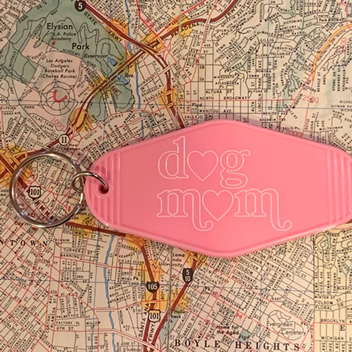 Dog Mom Key Tag