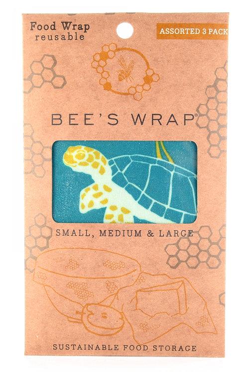 Assorted Ocean Print Bee's Wrap Reusable Food Wraps
