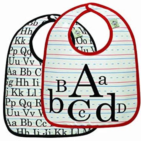Vintage Alphabet Bib Set of 2