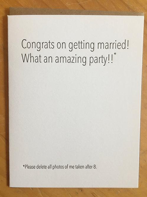 Wedding Photos Greeting Card