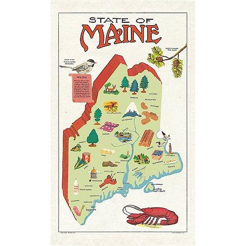 State of Maine Tea Towel