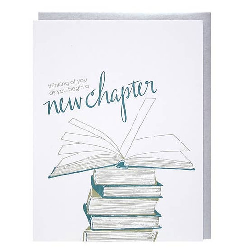 Thinking Of You As You Begin A New Chapter Greeting Card