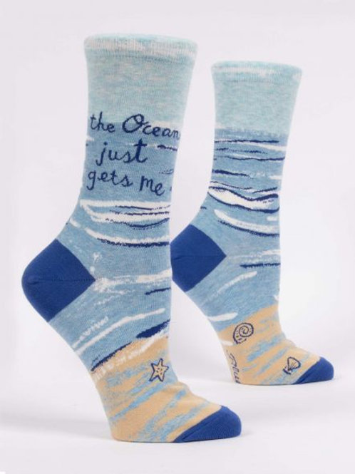 Women's The Ocean Just Gets Me Crew Sock