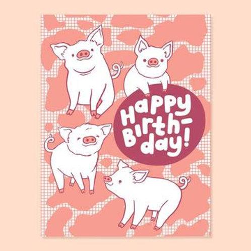 Piggy Birthday Greeting Card