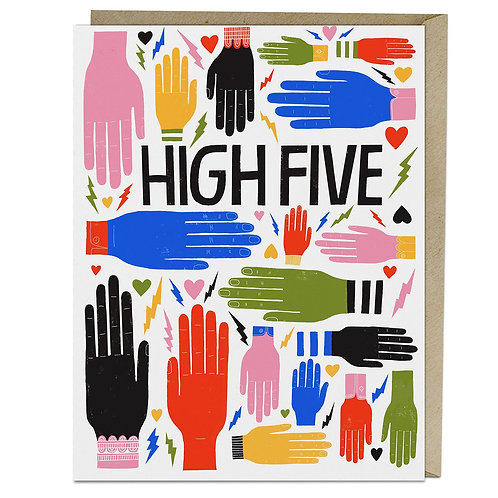 High Five Hands Greeting Card