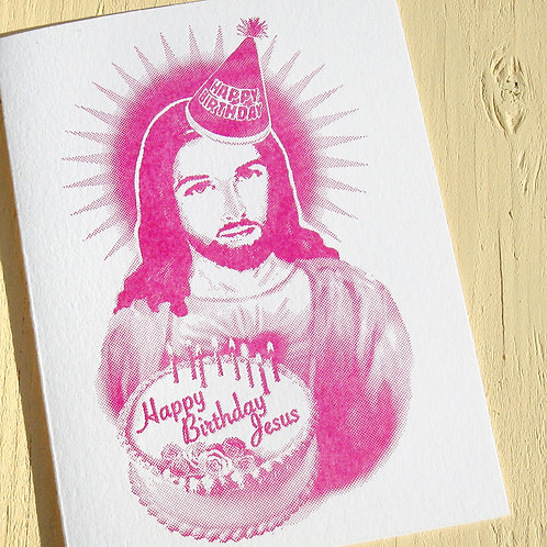 Happy Birthday Jesus Greeting Card