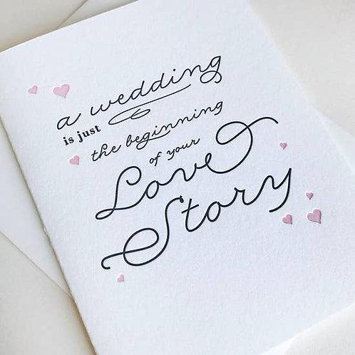 A Wedding Just Beginning Greeting Card