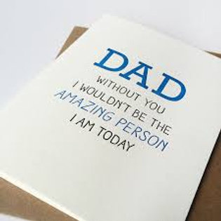 Dad Amazing Person Today Greeting Card