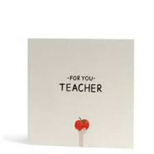 For You Teacher Greeting Card