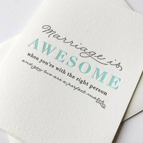 Marriage is Awesome Greeting Card