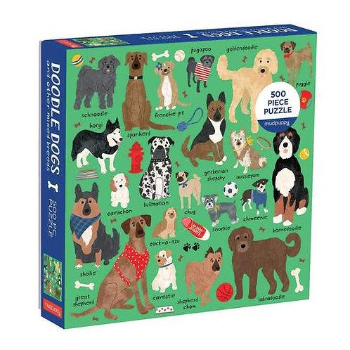 500 Piece Doodle Dogs Puzzle