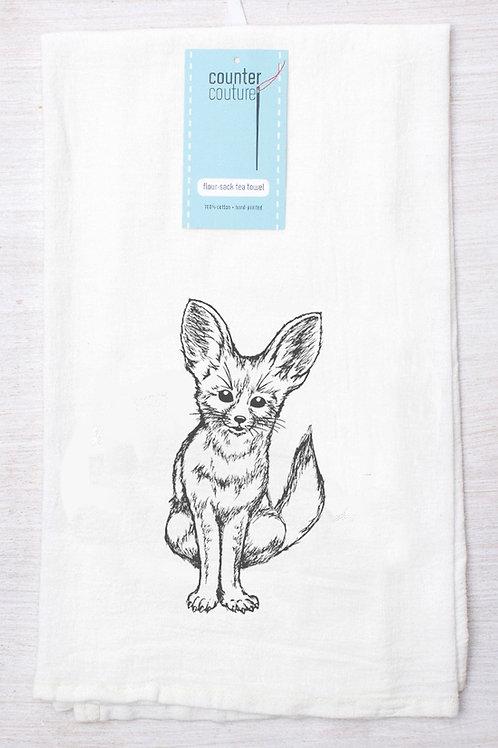 Fennec Fox Tea Towel