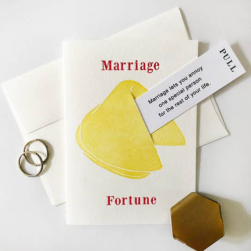 Marriage Fortune Cookie Annoy Greeting Card