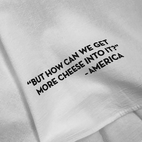 American Cheese Tea Towel