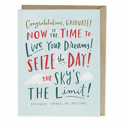 Congratulations Graduate Seize the Day Greeting Card
