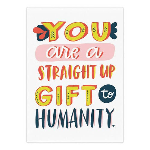 Straight Up Gift Greeting Card