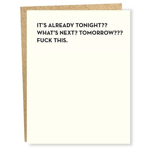 What's Next Tomorrow Greeting Card