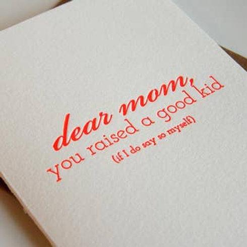 Dear Mom Greeting Card