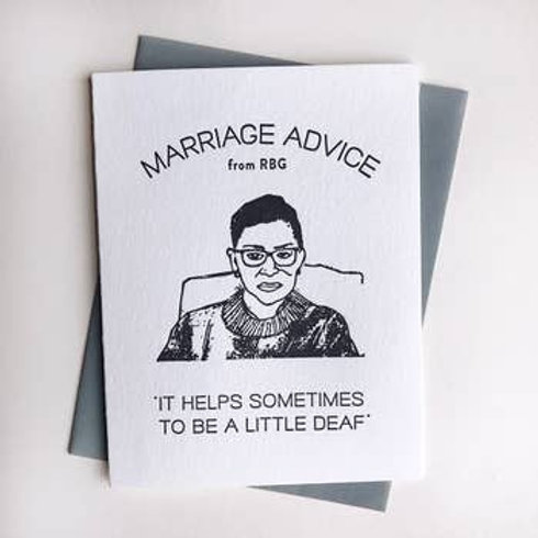 Marriage Advice from RBG Greeting Card