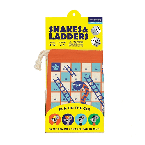 Snakes & Ladders To Go Game