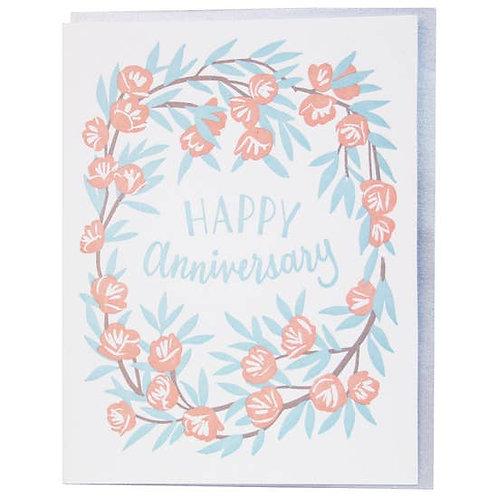 Happy Anniversary Wreath Greeting Card