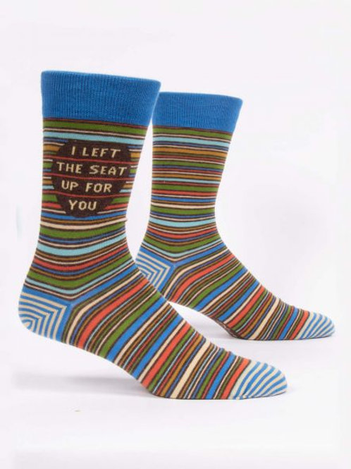 I Left the Seat Up For You Men's Crew Sock
