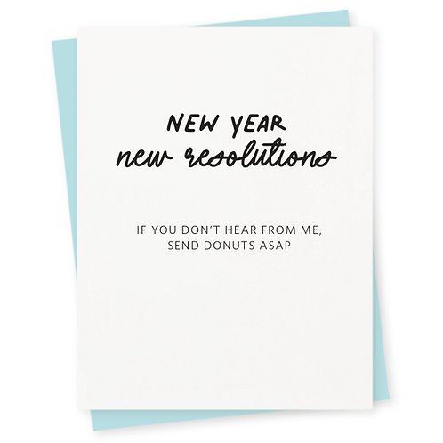 New Year New Resolution Greeting Card