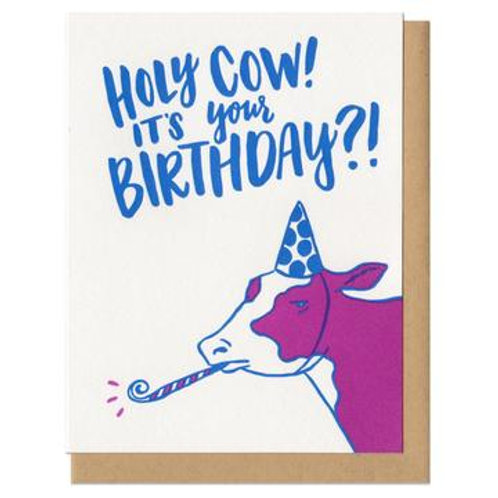 Holy Cow Its Your Birthday Greeting Card