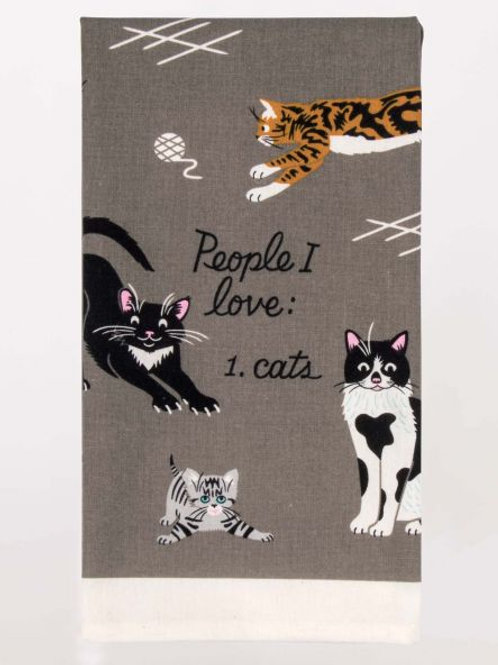 People I love Cats Dishtowel