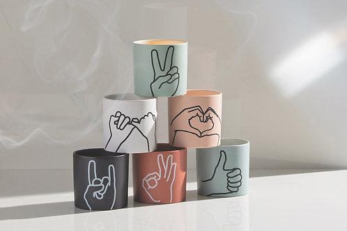 Impressions Ceramic Candles