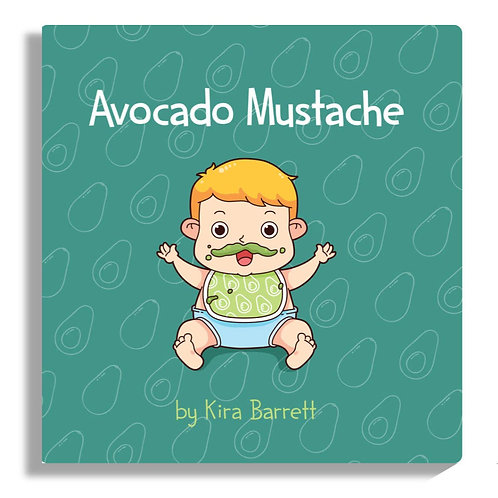 Avocado Mustache Board Book
