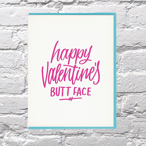 Happy Valentine's Buttface Greeting Card