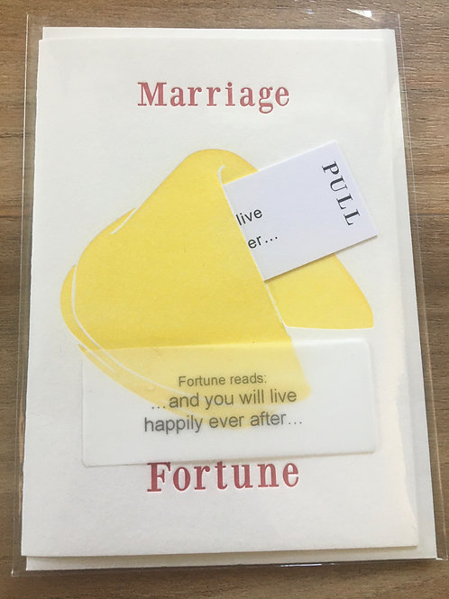 Marriage Fortune Greeting Card
