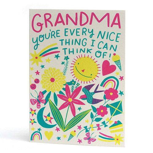 Everything Nice Grandma Greeting Card