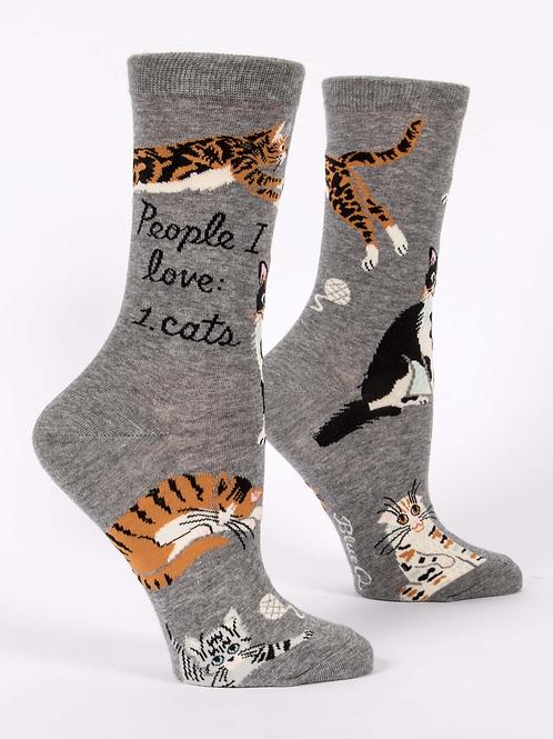 People I Love Cats Women's Sock